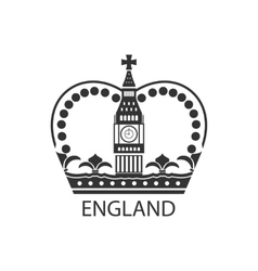 Concept of British Crown Isolated on White vector image