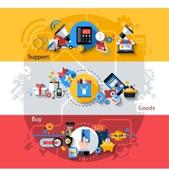 E-commerce Banners Set vector image vector image