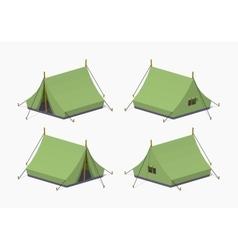 Green camping tents vector image vector image