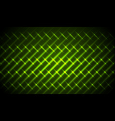 Green shiny neon stripes abstract pattern vector