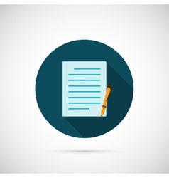 Note Icon vector image vector image