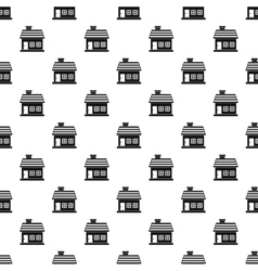One-storey house pattern simple style vector
