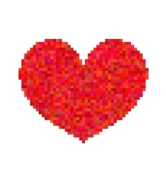 Pixel heart isolated on white background vector image vector image
