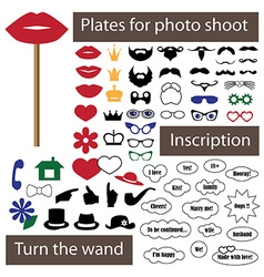 Plate for photo shoot on stick vector