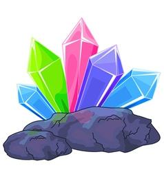 Quartz crystal vector image vector image