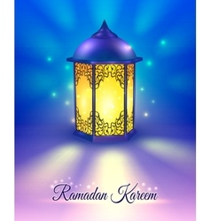Ramadan colored poster vector