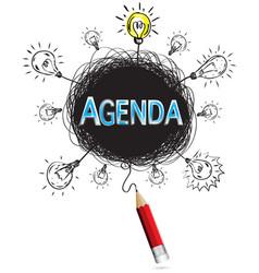 red pencil idea concept blue agenda business vector image vector image