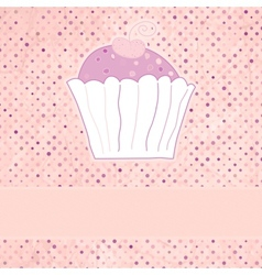 Retro cupcakes card vector