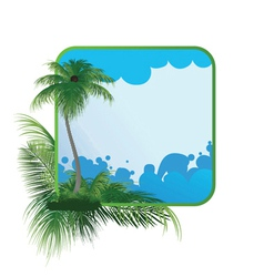 summer frame with palm tree vector image vector image