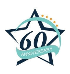Template Logo 60 Anniversary vector image