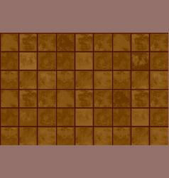 Terracotta floor tiles vector