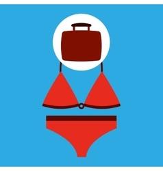 Travel concept red bikini design vector