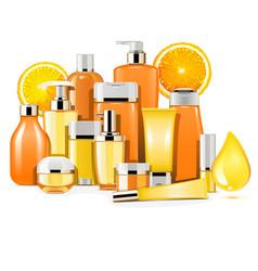 Vitamin cosmetics vector