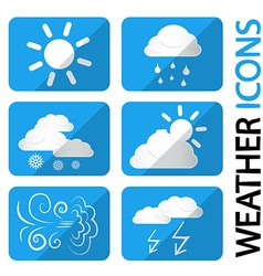 Weather icons set symbols with clouds sun and vector