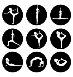 Yoga life design vector