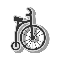 Bike vintage vehicle icon vector