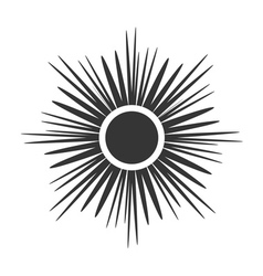 Sun icon light sign sunbeams gray design vector