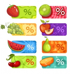 Fruit banners vector
