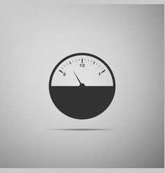 Fuel gauge flat icon on grey background vector