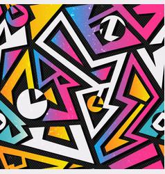 Music geometric seamless pattern vector