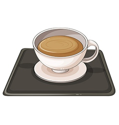 A cup of hot choco vector image