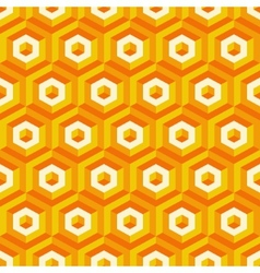 3d seamless abstract with hexagonal elements vector image