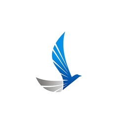 abstract wing bird eagle fly logo vector image