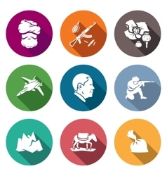 Afghanistan icons set vector