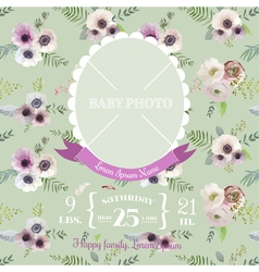 Baby Arrival Card - with Photo Frame vector image