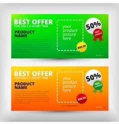 Sale backgrounds banners set vector