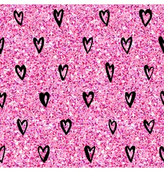 Valentines day heart gold glitter pattern vector