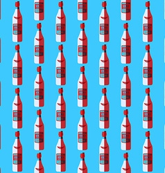 Pop art vodka bottle seamless pattern vector