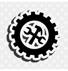 Gears machine design vector
