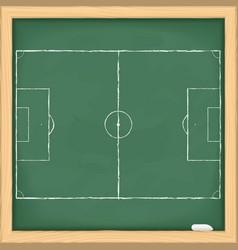 Football field on blackboard vector