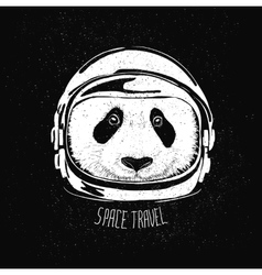 Space helmet panda vector