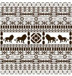 African ethnic motifs vector image vector image