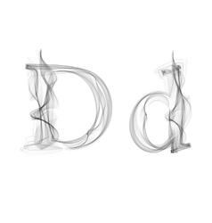 Black Smoke font Letter D vector image