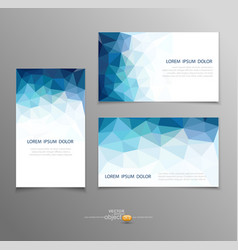 Blue abstract business card templates vector