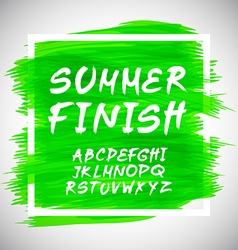 Brush style hand draw font abc vector