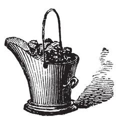 Coal bucket vintage vector
