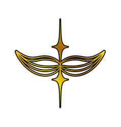 Decoration ornament golden swirl vector