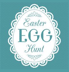 easter egg hunt typography hand lettering font vector image vector image