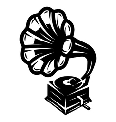 Gramophone icon for logo template vector