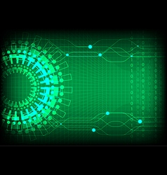 Green technology number background vector