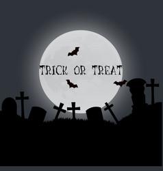Halloween trick or treat card design template vector