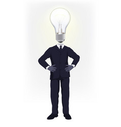 ideas man vector image