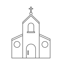 Isolated church building design vector image