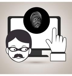 laptop virus safe security vector image