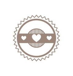 Logo design template with hearts vector image