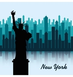 new york city cityscape vector image vector image
